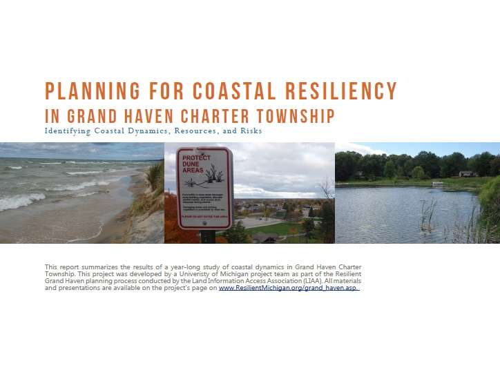 Cover of Grand Haven Coastal Report